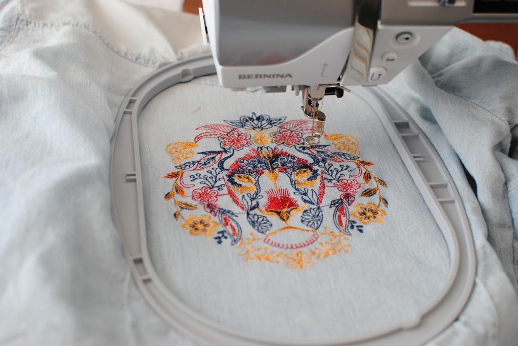 Для стиля нужна всего одна деталь – машинная вышивка