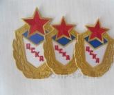 Вышивка нашивок ЦСКА на термоклеевой основе