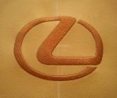 вышивка на коже Lexus