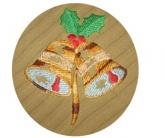 Вышивка на домашнем текстиле Колокольчики