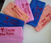 Вышивка на домашнем текстиле Полотенце