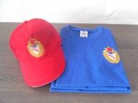 Вышивка логотипа ЦСКА на футболке