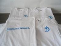 Вышивка Динамо на футболке