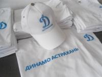 Вышивка логотипа Динамо на футболке