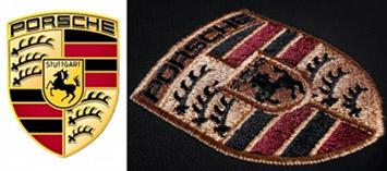 вышивка на логотипа Porsche