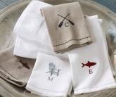 вышивка логотипов на полотенце