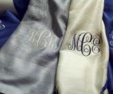 вышивка на шарфах