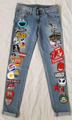 Нашивки на джинсах
