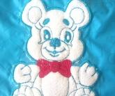 Вышивка на детской одеялке