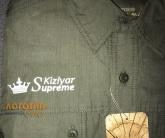 Нанесение логотипа на куртку
