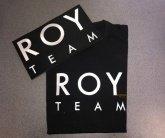 Надпись на футболки Roy Team