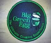 Вышивка шеврона big green egg