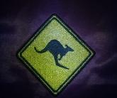 Вышивка шеврона кенгуру