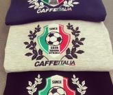 Вышивка CafeItalia на лонгсливе футболке с длинным рукавом