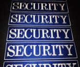 Нашивка на спину SECURITY