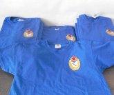 Вышивка логотипа ЦСКА на футболках